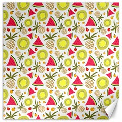 Summer Fruits Pattern Canvas 16  X 16   by TastefulDesigns