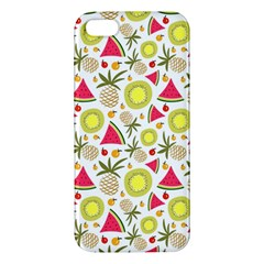 Summer Fruits Pattern Apple Iphone 5 Premium Hardshell Case by TastefulDesigns