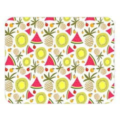 Summer Fruits Pattern Double Sided Flano Blanket (large)  by TastefulDesigns