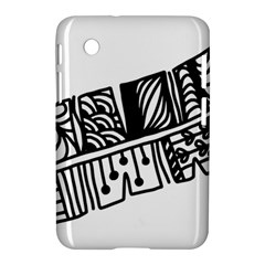 Feather Zentangle Samsung Galaxy Tab 2 (7 ) P3100 Hardshell Case  by CraftyLittleNodes