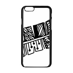 Feather Zentangle Apple Iphone 6/6s Black Enamel Case by CraftyLittleNodes