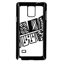 Feather Zentangle Samsung Galaxy Note 4 Case (black) by CraftyLittleNodes