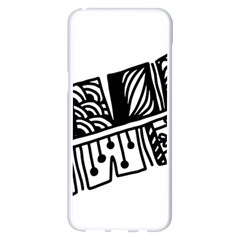 Feather Zentangle Samsung Galaxy S8 Plus White Seamless Case