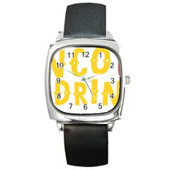Cinco De Drinko Square Metal Watch by CraftyLittleNodes