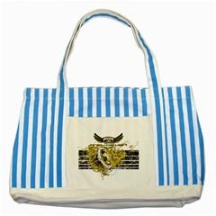 Andy Da Man Striped Blue Tote Bag by Acid909