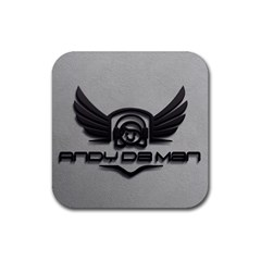 Andy Da Man 3d Grey Rubber Coaster (square)  by Acid909