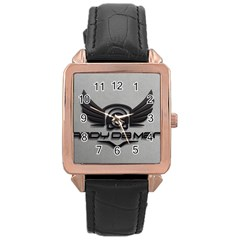 Andy Da Man 3d Grey Rose Gold Leather Watch  by Acid909
