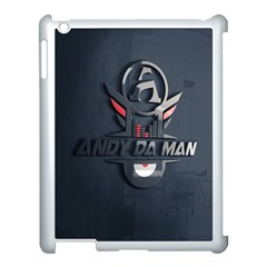 Andy Da Man 3d Dark Apple Ipad 3/4 Case (white) by Acid909