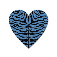 Skin2 Black Marble & Blue Colored Pencil (r) Magnet (heart) by trendistuff