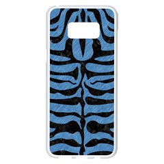 Skin2 Black Marble & Blue Colored Pencil (r) Samsung Galaxy S8 Plus White Seamless Case