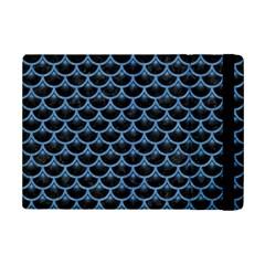 Scales3 Black Marble & Blue Colored Pencil Apple Ipad Mini 2 Flip Case by trendistuff