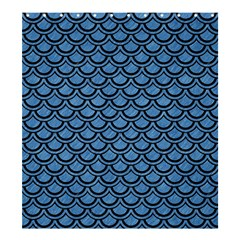 Scales2 Black Marble & Blue Colored Pencil (r) Shower Curtain 66  X 72  (large) by trendistuff