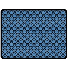 Scales2 Black Marble & Blue Colored Pencil (r) Double Sided Fleece Blanket (large) by trendistuff