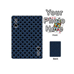 Scales2 Black Marble & Blue Colored Pencil Playing Cards 54 (mini) by trendistuff