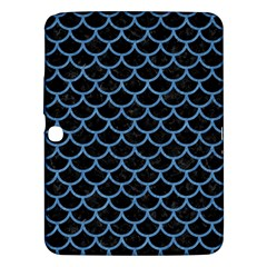 Scales1 Black Marble & Blue Colored Pencil Samsung Galaxy Tab 3 (10 1 ) P5200 Hardshell Case  by trendistuff