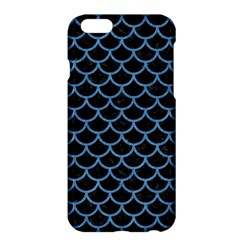 Scales1 Black Marble & Blue Colored Pencil Apple Iphone 6 Plus/6s Plus Hardshell Case by trendistuff