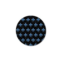 Royal1 Black Marble & Blue Colored Pencil (r) Golf Ball Marker by trendistuff