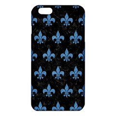 Royal1 Black Marble & Blue Colored Pencil (r) Iphone 6 Plus/6s Plus Tpu Case by trendistuff
