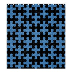 Puzzle1 Black Marble & Blue Colored Pencil Shower Curtain 66  X 72  (large) by trendistuff