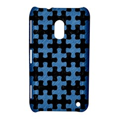 Puzzle1 Black Marble & Blue Colored Pencil Nokia Lumia 620 Hardshell Case by trendistuff