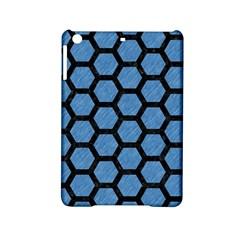 Hexagon2 Black Marble & Blue Colored Pencil (r) Apple Ipad Mini 2 Hardshell Case by trendistuff
