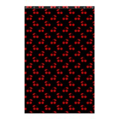 Red Cherries On Black Shower Curtain 48  x 72  (Small)  by PodArtist