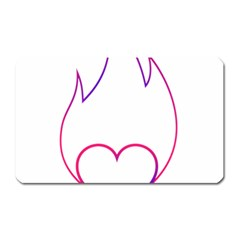 Heart Flame Logo Emblem Magnet (rectangular) by Nexatart