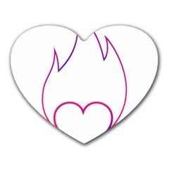 Heart Flame Logo Emblem Heart Mousepads by Nexatart