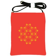 Pentagon Cells Chemistry Yellow Shoulder Sling Bags by Nexatart