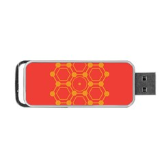 Pentagon Cells Chemistry Yellow Portable Usb Flash (two Sides) by Nexatart
