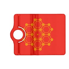 Pentagon Cells Chemistry Yellow Kindle Fire Hd (2013) Flip 360 Case by Nexatart