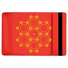 Pentagon Cells Chemistry Yellow Ipad Air 2 Flip by Nexatart