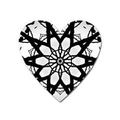 Pattern Abstract Fractal Heart Magnet by Nexatart