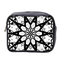 Pattern Abstract Fractal Mini Toiletries Bag 2 Side by Nexatart
