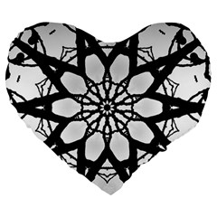 Pattern Abstract Fractal Large 19  Premium Heart Shape Cushions by Nexatart