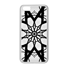 Pattern Abstract Fractal Apple Iphone 5c Seamless Case (white) by Nexatart