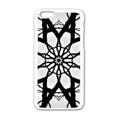 Pattern Abstract Fractal Apple Iphone 6/6s White Enamel Case by Nexatart