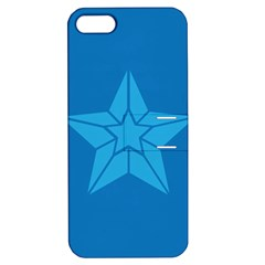 Star Design Pattern Texture Sign Apple Iphone 5 Hardshell Case With Stand by Nexatart