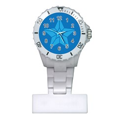 Star Design Pattern Texture Sign Plastic Nurses Watch by Nexatart
