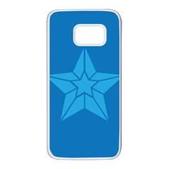 Star Design Pattern Texture Sign Samsung Galaxy S7 White Seamless Case