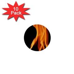 Fire Flame Pillar Of Fire Heat 1  Mini Buttons (10 Pack)  by Nexatart
