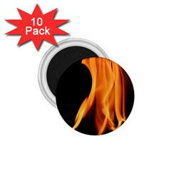 Fire Flame Pillar Of Fire Heat 1 75  Magnets (10 Pack)  by Nexatart