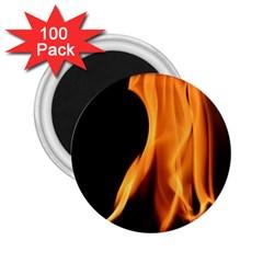Fire Flame Pillar Of Fire Heat 2 25  Magnets (100 Pack)  by Nexatart