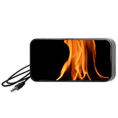 Fire Flame Pillar Of Fire Heat Portable Speaker (black) by Nexatart