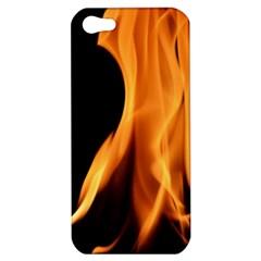 Fire Flame Pillar Of Fire Heat Apple Iphone 5 Hardshell Case by Nexatart