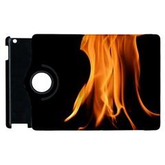 Fire Flame Pillar Of Fire Heat Apple Ipad 3/4 Flip 360 Case by Nexatart