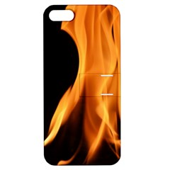 Fire Flame Pillar Of Fire Heat Apple Iphone 5 Hardshell Case With Stand by Nexatart