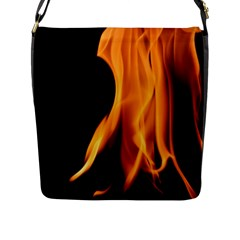 Fire Flame Pillar Of Fire Heat Flap Messenger Bag (l)  by Nexatart