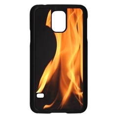 Fire Flame Pillar Of Fire Heat Samsung Galaxy S5 Case (black) by Nexatart