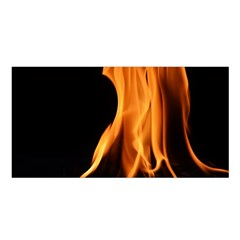Fire Flame Pillar Of Fire Heat Satin Shawl by Nexatart